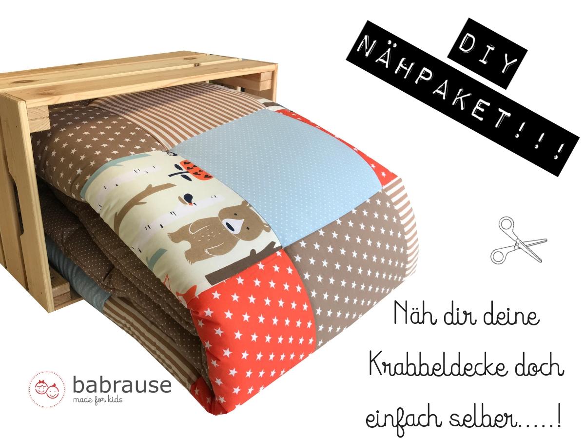krabbeldecke diy n hpaket waldtiere orange braun stoff stoff shop stoffwerk siegen. Black Bedroom Furniture Sets. Home Design Ideas
